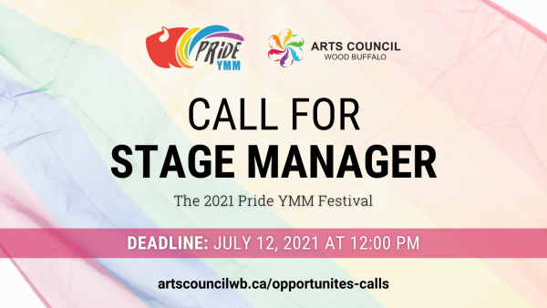 Rainbow Graphic Call for Stage Manager Pride YMM