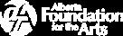 Alberta Foundation For the Arts Logo in White
